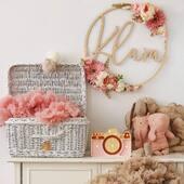 Dekorer ditt barns rom med ett av våre navneskilt 🌸www.annamor.no