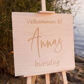 Skal du feire en spesiell dag?Våre velkomstskilt gir dine gjester et flott førsteinntrykk av din fest ✅ Se mer på www.annamor.no . foto @littlemiphotography